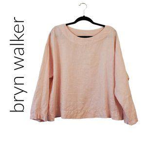 Bryn WALKER Pale Pink Linen Top Size Small